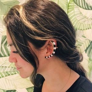 Jewelry - Statement Black & Clear Ear Climber